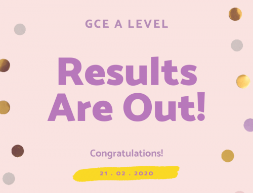 GCE A Levels Results Are Out!