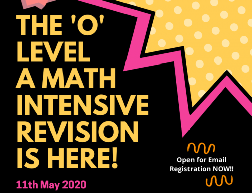 The 'O' Level A Math Intensive Revision Is HERE!