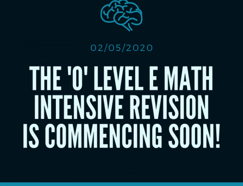The 'O' Level E Math Intensive Revision Is Commencing Soon!